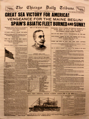 The Chicago Daily Tribune May 2, 1898 Poster