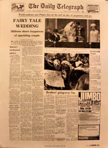The Daily Telegraph July 30, 1981 Poster