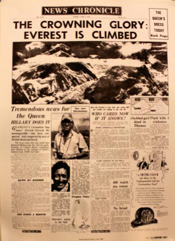 News Chronicle June 2, 1953 Poster