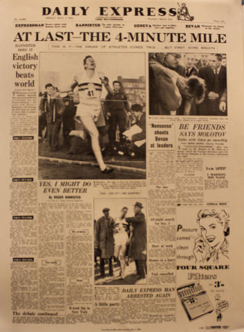 Daily Express May 7, 1954 Poster