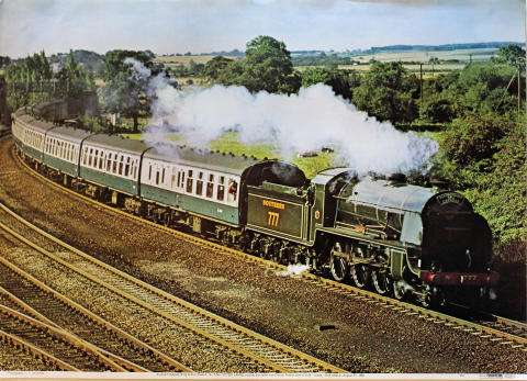 Southern Railway King Arthur Class 4-6-0 No. 777 Sir Lamiel Poster