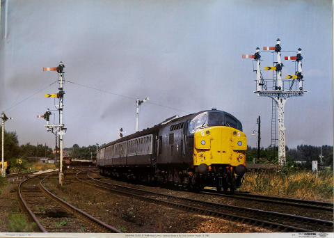 British Rail Class 37 37099 King's Lynn Poster