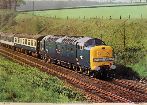 Class 55 Deltic No. 55012 Crepello Poster