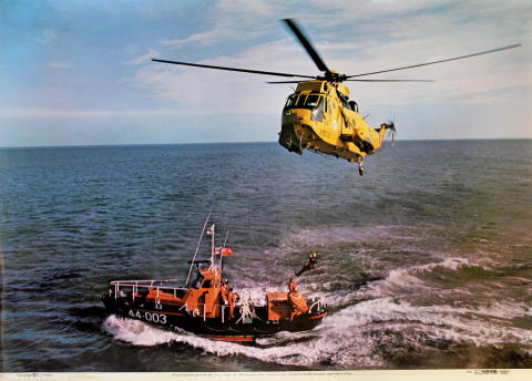 Sea King Helicopter HAR Mk.3 of Flight, No. 202 Squadron, RAF Poster