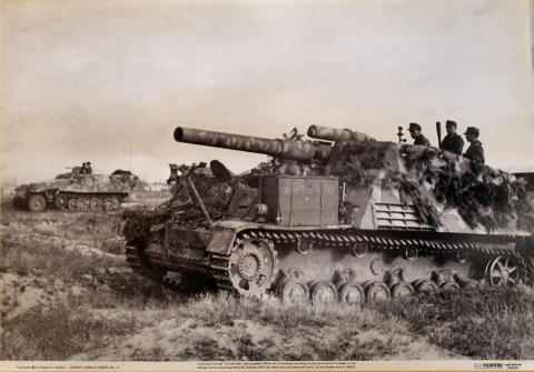 A German Hummel Self-Propelled 150mm Pzf.H Howitzer Poster