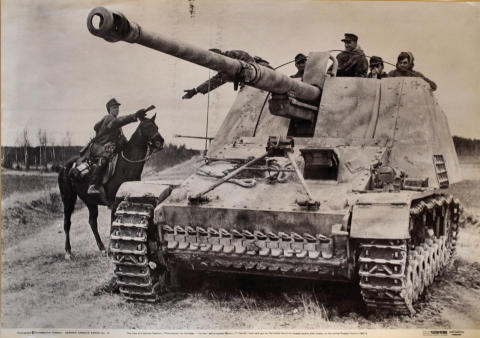 German Nashorn Self-Propelled 88mm L/71 Pak 43/1 Anti-Tank Gun Poster