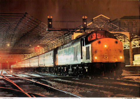 Class 40 D200 at Huddersfield Poster