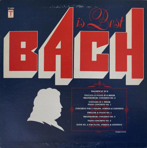 "Bach Is Best Vinyl 12"""