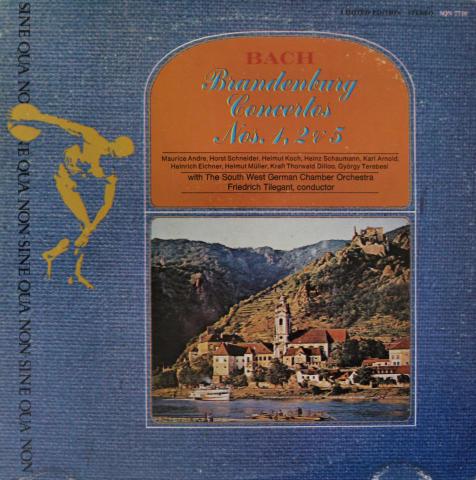 """Brandenburg Concerti Nos. 1, 2 & 5 Vinyl 12"""""""