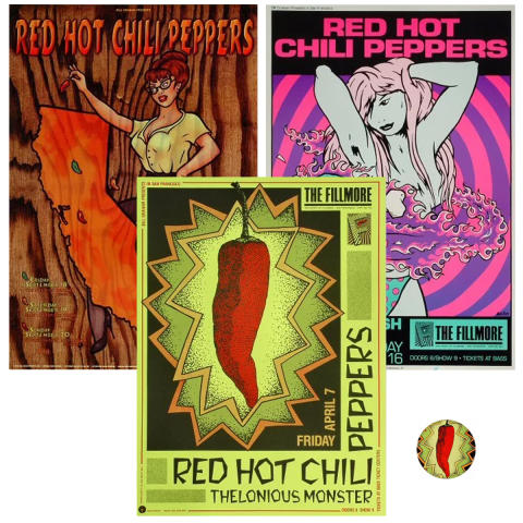 Red Hot Chili Peppers Poster Set