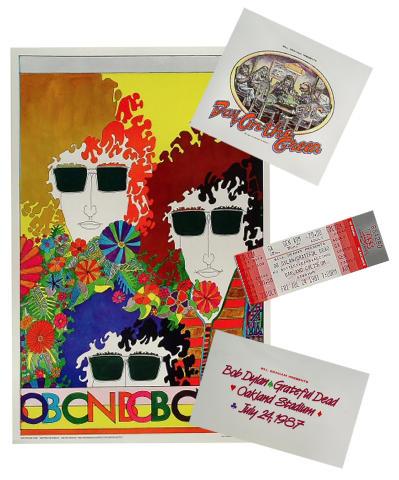Bob Dylan Poster/Pellon/Ticket Bundle