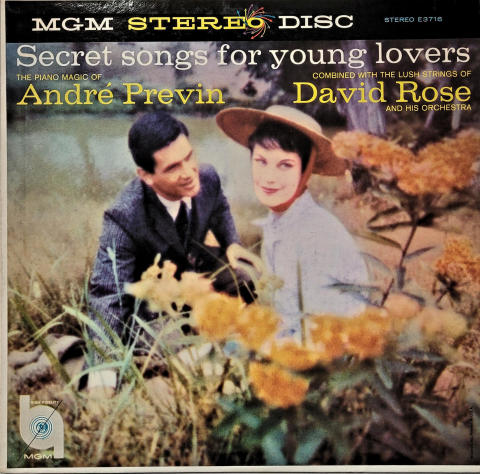 """Secret Songs For Young Lovers:  André Previn And David Rose Vinyl 12"""""""