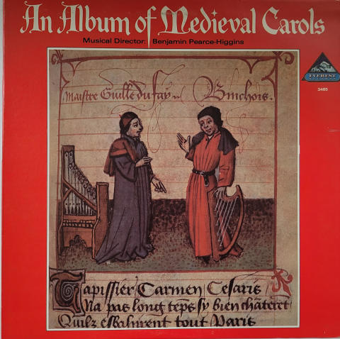 """Benjamin Pearce-Higgins - An Album Of Medieval Carols Vinyl 12"""""""