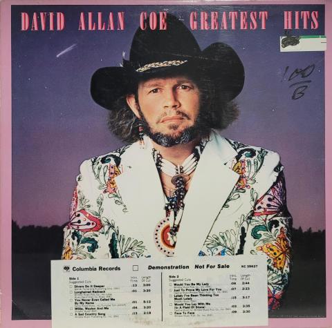 "David Allan Coe Vinyl 12"""