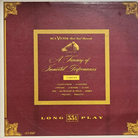 "A Treasury Of Immortal Performances Vinyl 12"""