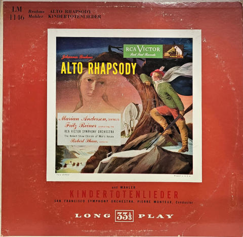 "Brahms - Alto Rhapsody, Op. 53 • Mahler - Kindertotenlieder Vinyl 12"""