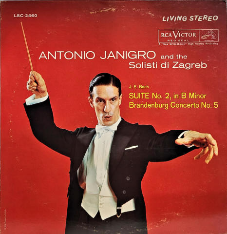 """J.S. Bach Suite No. 2, In B Minor / Brandenburg Concerto No. 5 Vinyl 12"""""""