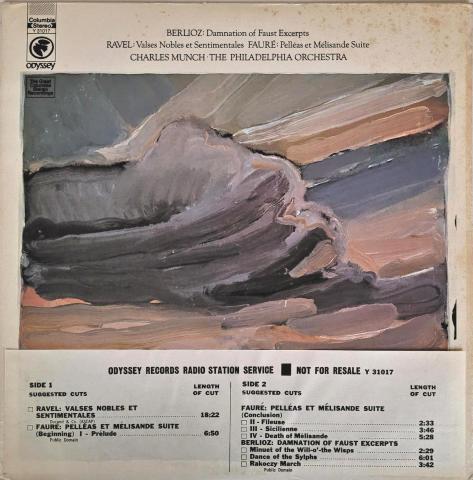 "Berlioz, Ravel & Faure Vinyl 12"""