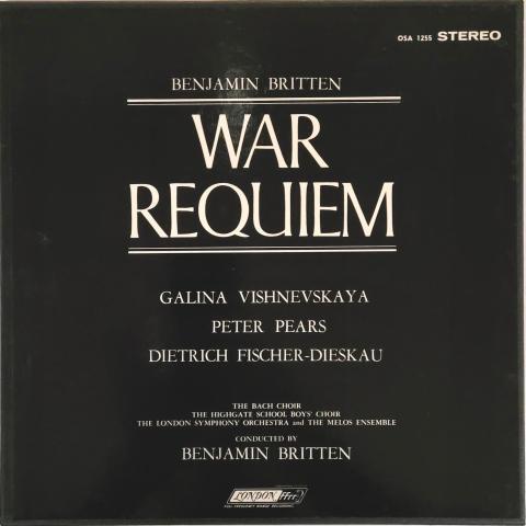 """War Requiem Vinyl 12"""""""