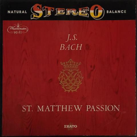 "St. Matthew Passion Vinyl 12"""