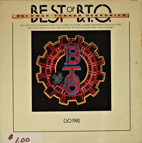 """Best Of B.T.O. (So Far) Vinyl 12"""""""