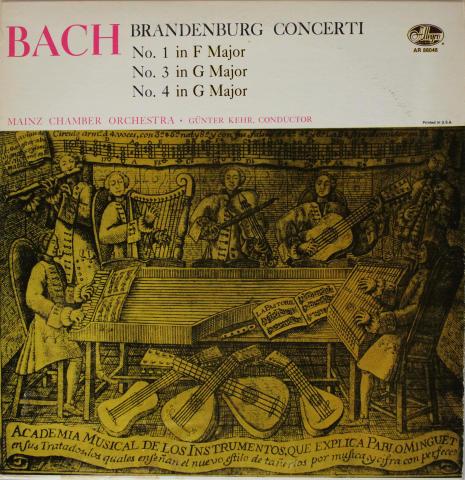 """Brandenburg Concerti Nos. 1, 3 & 4 Vinyl 12"""""""