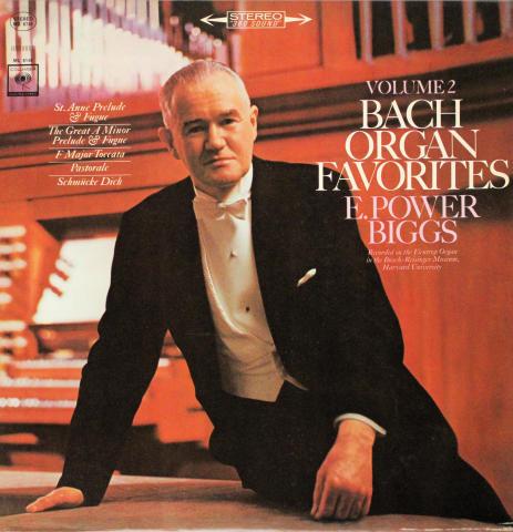"Bach Organ Favorites, Volume 2 Vinyl 12"""