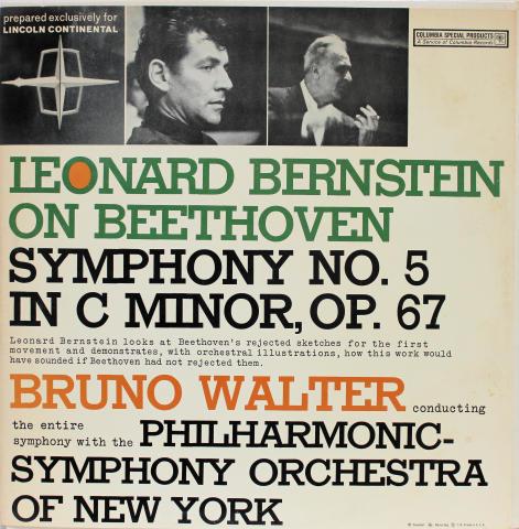 """Leonard Bernstein On Beethoven Symphony No. 5 In C Minor, Op. 67 Vinyl 12"""""""