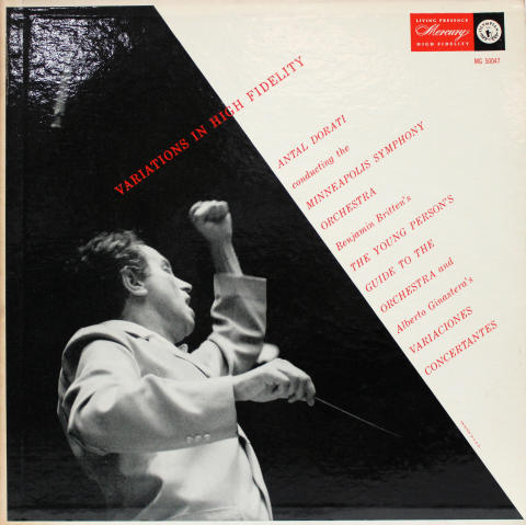 """Variations In High Fidelity: Benjamin Britten's The Young Person's Guide To The Orchestra And Alberto Ginastera's Variaciones Concertantes Vinyl 12"""""""