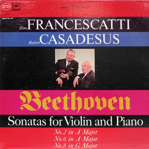 """Sonatas For Violin And Piano No. 2 In A Major ? No. 6 In A Major ? No. 8 In G Major Vinyl 12"""""""
