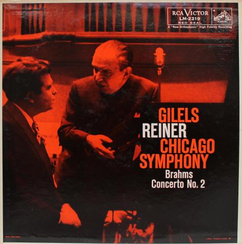 """Brahms Concerto No. 2 Vinyl 12"""""""