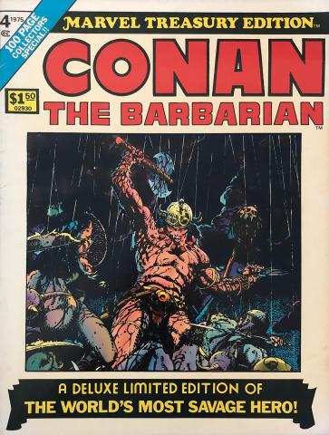Marvel Comics: Conan The Barbarian Vol. 1 No. 4 - Marvel Treasury Edition