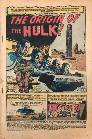 Marvel Comics: The Incredible Hulk Vol. 1 No. 2