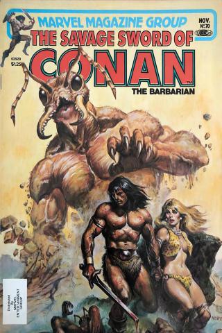 Marvel Comics: The Savage Sword of Conan the Barbarian #70
