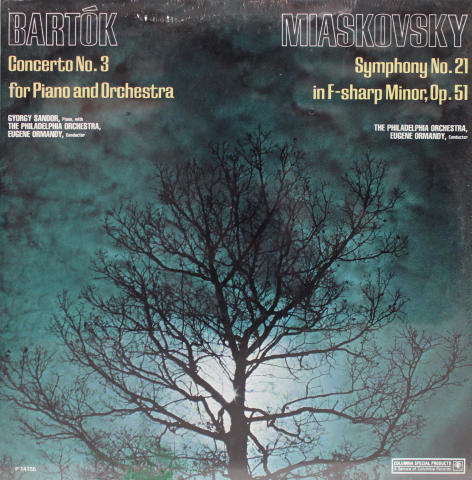 "Bartok - Concerto No. 3 For Piano And Orchestra / Miaskovsky - Symphony No. 21 In F-Sharp Minor, Op. 51 Vinyl 12"""