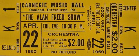 Alan Freed Vintage Ticket