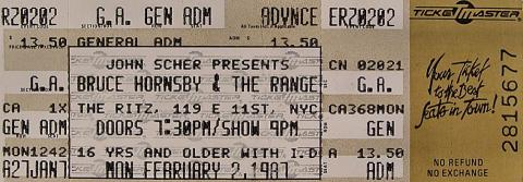 Bruce Hornsby and the Range Vintage Ticket