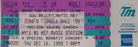Z100's Jingle Ball 99 Vintage Ticket