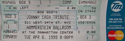 Johnny Cash Tribute Vintage Ticket