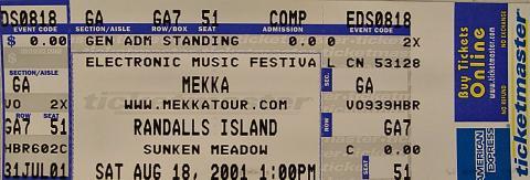 Mekka Vintage Ticket