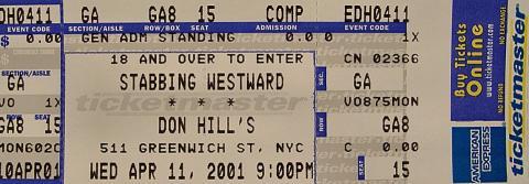 Stabbing Westward Vintage Ticket