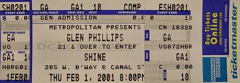 Glen Phillips Vintage Ticket