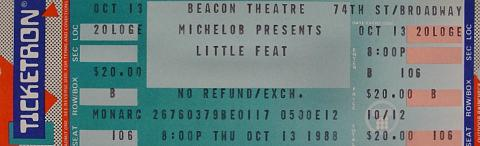 Little Feat Vintage Ticket
