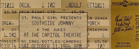 Southside Johnny Vintage Ticket