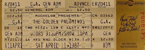 The Golden Palominos Vintage Ticket