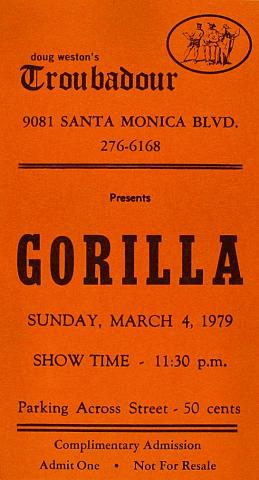 Gorilla Vintage Ticket