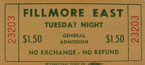 Tuesday Night Vintage Ticket