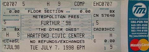 Furthur 98 Vintage Ticket