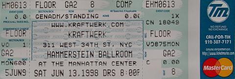 Kraftwerk Vintage Ticket