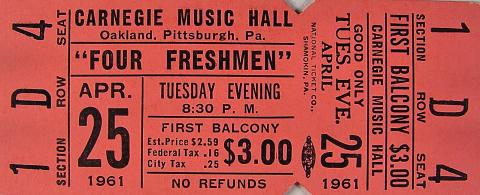 Four Freshmen Vintage Ticket